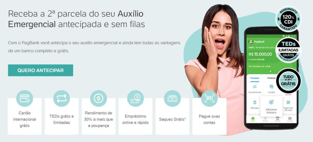 Antecipação da 3ª parcela do auxílio emergencial pelo PagBank, vantagens da conta digital PagSeguro